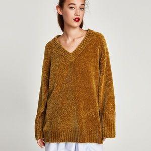 ZARA chenille sweater.
